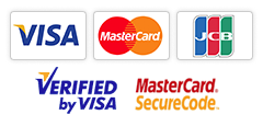 Visa. MasterCard. JCB. Verified by Visa. MasterCard SecureCode